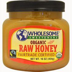 Fair Trade Raw Honey Organic Wholesome 16 fl oz Jar