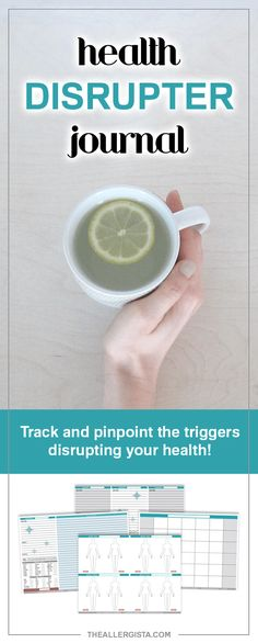 This journal is tailored for you to effectively track food, activities, symptoms and other factors in an effort to figure out what's disrupting your health :-D The Health Disrupter Journal takes a systematic approach to tracking trends and drawing parallels between potential triggers and your body's reactions. If you're ready to pinpoint your disrupter, get yours today!