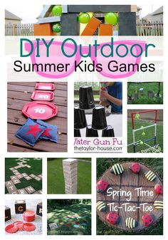 DIY Outdoor Games For Kids... It is going to be a FUN Summer!!!!