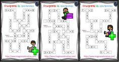 Crucigramas de operaciones sencillas sumas y restas