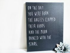 Baby Nursery Canvas Baby Quotes & Sayings 11 x 14 Canvas Art Baby Room Decor Nursery Wall Art Baby Shower Gifts Moon and Stars Nursery Canvas, Nursery Wall Art, Nursery Quotes, Canvas Art, Nursery Rhymes, Nursery Ideas, Leyla Rose, Painting Quotes, Quote Paintings