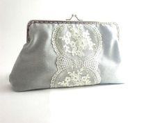 Cotton fabric  clutch lace design romantic  free by HirasuCraft, $41.00