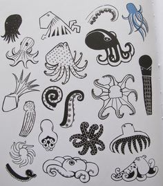 20 ways to draw a cat by Julia Kuo - doodles of Octopus