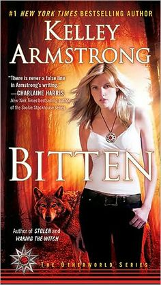 The cover art for the reprint of Bitten by Kelley Armstrong.