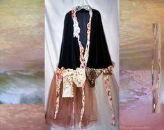 National Velvet Tulle Art Jacket Coat 2x 3x 4x by BohemianPassions