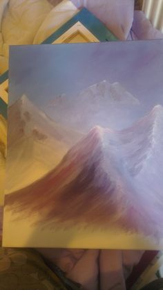 Icy Mountain scene. Unfinished, as are most of my paintings!