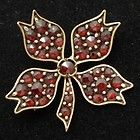 Antique Pin with Bohemian Garnets
