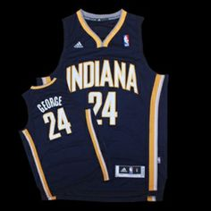 NBA Indiana Pacers Paul George Navy Blue Swingman Basketball Jersey e2f39d9da