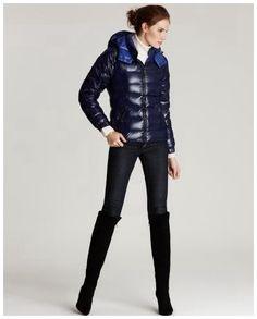 Moncler Femme Vest Fourreau Bleu - doudoune italie