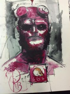 Hellboy by Riley Rossmo Comic Art