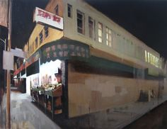 "Closing Time, 36"" X 48"", oil on canvas"