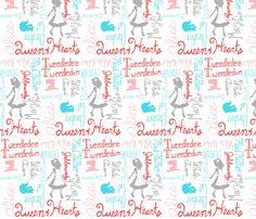 Wonderlandians fabric by majoranthegeek on Spoonflower - custom fabric