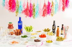 Make The Ultimate Bloody Mary Bar With DIY Hot Sauce via Brit + Co.