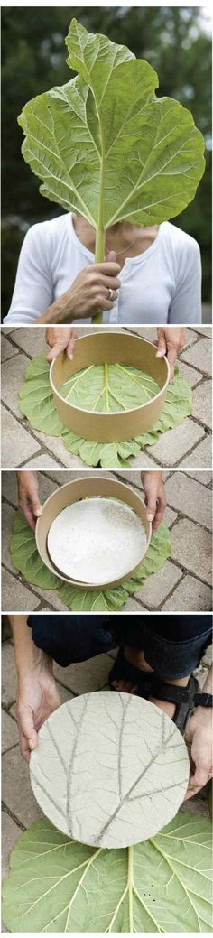 Garten Deko selber machen Baumblatt Figuren