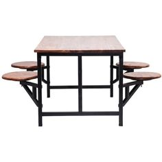 Vintage 4 Seat Dining Table found on Polyvore