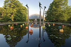 Missouri Botanical Gardens, St. Louis. You could spend weeks here and never reach the end of its archives, gardens, fountains and events. A state treasure. Visit its sister location, the Butterfly House, in Chesterfield's Forest Park. Might as well ride the carousel while you're there:-)