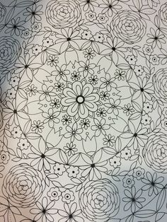 Tulip Pattern Outline In A Coloring Book Kinokuniya Store Seattle