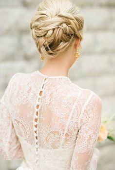 Classic Braided Chignon - Braided Wedding Hairstyles