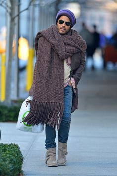 Wear an excessively large scarf. | 29 Wonderful Things You Can Do Now That It's Really Cold Outside