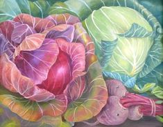 Charlotte Thodey  Green Cabbage, Red Cabbage and Beetroot  2011