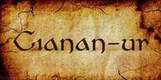 New free font 'Cianan-ur' by feorag · Free for commercial use · #freefont #font #freefont