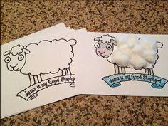 Jesus is my Good Shepherd Preschool Kindergarten Sheep Craft Printable for Sunday