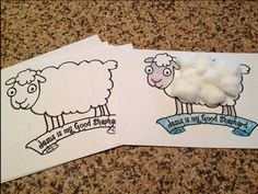 Preschool Kindergarten Sheep Craft Printable for Sunday