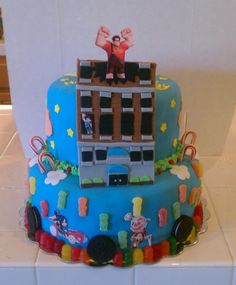 Wreck it Ralph cake that my Harley asked me to make for her! by lindsey