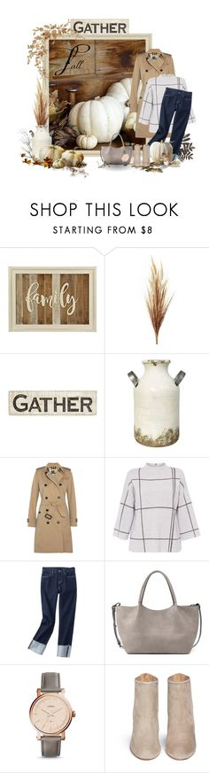"""Fall Hello"" by miradawnp ❤ liked on Polyvore featuring BEA, Primitives By Kathy, SONOMA Goods for Life, Burberry, L.K.Bennett, Sole Society, FOSSIL and Aquazzura"