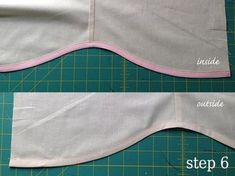 The secret to getting a clean finish on a curved hemline is bias tape!