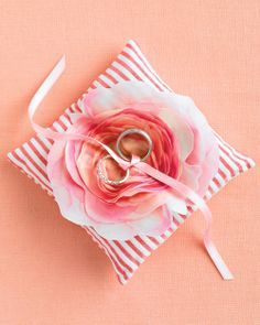 Download our PDF to print out these pretty rose and turn it into a blooming ring pillow.