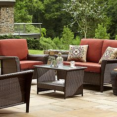 Ty Pennington Style Parkside Deep Seating Set- Rust