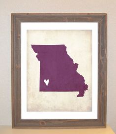ordered this for my living room . . . but in aqua with a red heart over Osage County . . . :)
