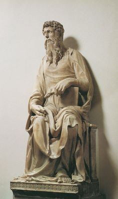 Donatello (1386-1466) ~ St John the Evangelist ~ 1408-1415 ~ Donato di Niccolò di Betto Bardi  better known as Donatello, was the most important early Renaissance sculptor from Florence. Donatello's sculpture is notable for its detailed realism, evidence of the artist's skills.