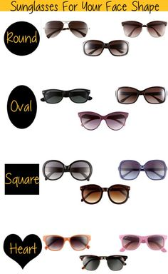 How to choose your #sunglasses frame according to your #face_shape