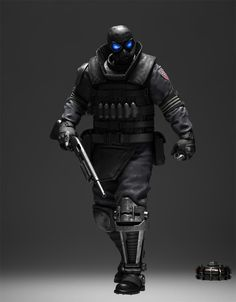 Beltway, future, cyberpunk, armor, future warrior, weapon, futuristic style, military, mask, prosthetic leg, future soldier, warrior, future by FuturisticNews.com
