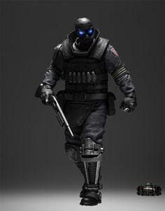 Beltway, future, cyberpunk, armor, future warrior, weapon, futuristic style, military, mask, prosthetic leg, future soldier, warrior, future by FuturisticNews.com