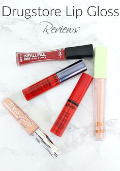 Drugstore Lip Gloss Reviews | The Search for a Long Lasting Drugstore Lip Gloss Best Drugstore Lip Gloss, Drugstore Highlighter, Drugstore Makeup Dupes, Summer Beauty Tips, Best Serum, Oily Skin Care, Beauty Must Haves, Best Makeup Products, Lip Products