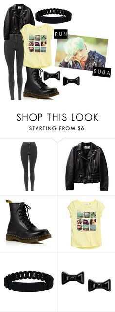 """BTS Run SUGA inspired outfit"" by mhobi on Polyvore featuring moda, Dr. Martens, Marc by Marc Jacobs, women's clothing, women, female, woman, misses, juniors y run - womens trendy clothing, womens fashion clothing online, womens sports clothing"