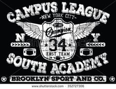 New York City - Brooklyn Sport vector print and varsity. For t-shirt or other uses in vector.