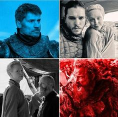 Briene and Jon  and Sor Davos