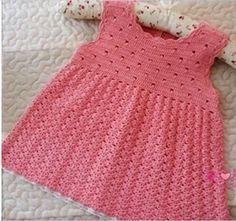 Beautiful Crochet Dress Pattern For Babies ⋆ Crochet Kingdom Crochet Baby Dress Pattern, Baby Girl Crochet, Crochet Baby Clothes, Knit Crochet, Crochet Patterns, Free Crochet, Knitting For Kids, Crochet For Kids, Baby Knitting