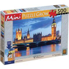 Quebra-Cabeça Mini Puzzle Londres - 500 Peças - Grow