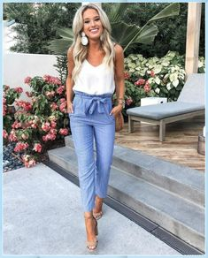 37 Look good Casual chic outfits - Casual Chic Outfits, Summer Business Casual Outfits, Casual Summer, Style Summer, Dress Casual, Casual Attire, Business Outfits, Women's Casual, Cute Spring Outfits