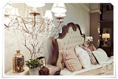 Arabella French Romantic Bedroom Collection from Accentrics Home:  Elegant European Country Chic | The Decorating Diva, LLC