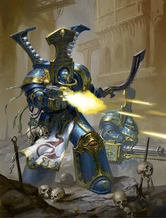 """captainblacklobster: """"The Scarab Occult, also known as the Sekhmet and Magnus's Veterans, were the Tactical Dreadnought Armour-equipped Terminator elite of the Thousand Sons Space Marine Legion, active for much of the Great Crusade and the Horus. Warhammer 40k Miniatures, Warhammer 40k Art, Warhammer Fantasy, Chaos Daemons, Thousand Sons, Lego, Game Workshop, Geek Art, Space Marine"""
