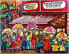 Carole Spandau - Schwartz's deli, rainy day line-up