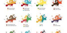 20 Ways to break Europe. Infographie, in Atlas of Prejudice - Volume ©Alphadesigner [Yanko Tsvetkov], European History, World History, European Map, Info Board, Atlas, Data Visualization, Continents, Fun Facts, Web Design
