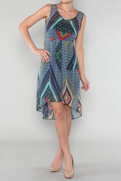 Aztec Print Dress #southwestern #wholesale #prints #dresses #skirts #tops #shorts #summer #love #fashion #clothing