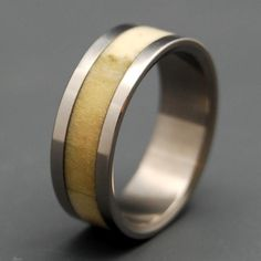 Deer Antler Wedding Band Perfect For The Outdoorsman Or Woman In Your Life Custom